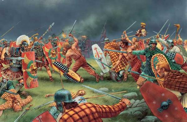 Scottish Picts fighting Romans